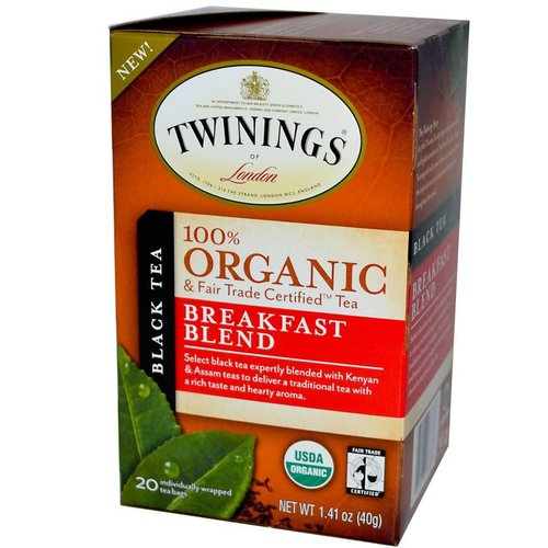 Twinings Twinings 20 CT Organic Breakfast Blend