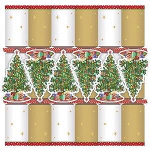 Caspari Caspari Christmas Crackers - Trim A Tree - 6 Count