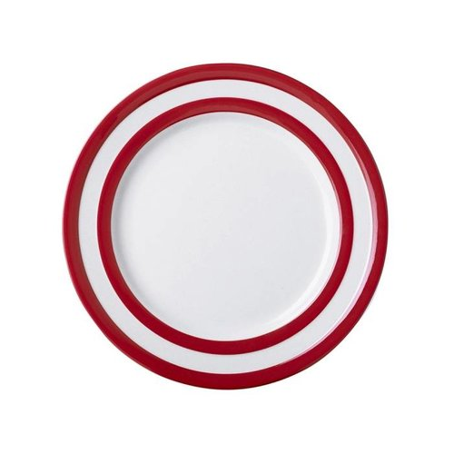 Cornishware Cornishware Breakfast Plate 9 in. - Red