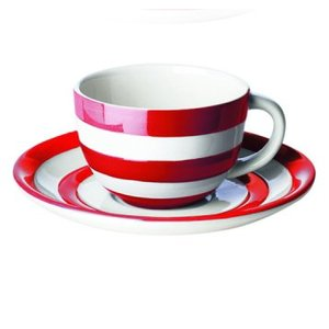 Cornishware Cornishware Teacup & Saucer - Red