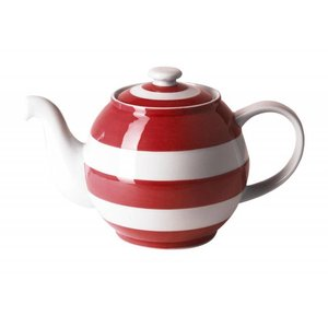 Cornishware Large Betty Teapot 49oz - Red