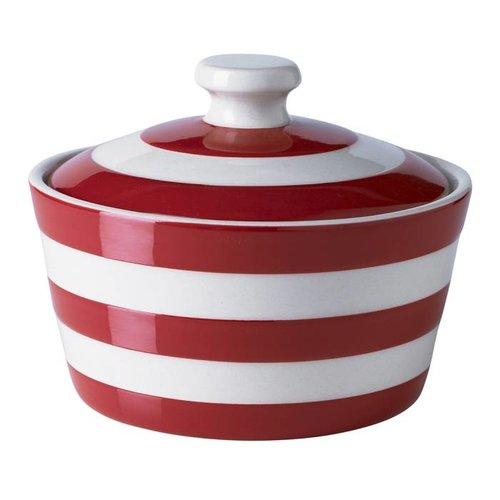 Cornishware Cornishware Butter Dish 14cm - Red