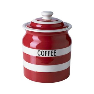 Cornishware Cornishware Coffee Storage Jar 30oz - Red