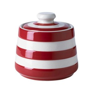 Cornishware Cornishware Covered Sugar Bowl - Red