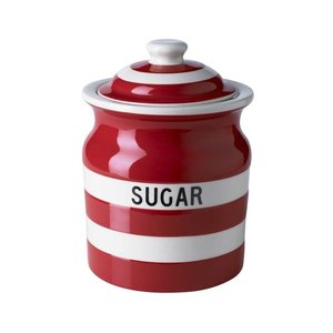 Cornishware Cornishware Sugar Storage Jar 30oz - Red