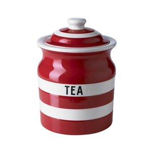 Cornishware Cornishware Tea Storage Jar 30oz - Red