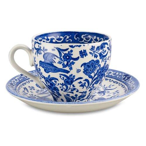Burleigh Pottery Regal Peacock Blue Teacup & Saucer