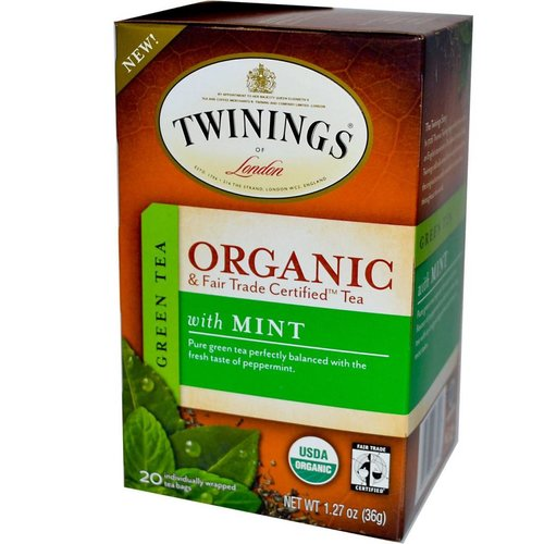 Twinings Twinings 20 ct Organic  Green Tea with Mint