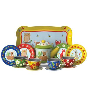 Schylling Schylling Forest Friends Tin Tea Set
