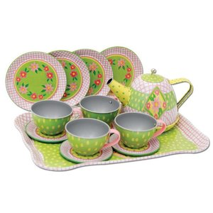 Schylling Schylling Children's Green Tin Tea Set