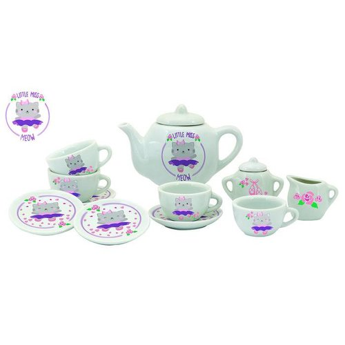Schylling Schylling Little Miss Meow Tea Set