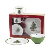 Spode Christmas Tree 3-Piece Feeding Set