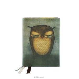 Santoro London Grumpy Owl Cloth Notebook