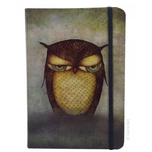 Santoro London Grumpy Owl Hardcover Notebook