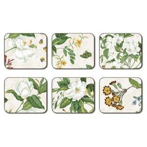 Cala Williamsburg Garden Images Beige Coasters