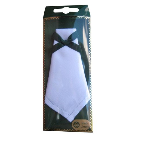 McCaw Allan Square Linen Handkerchief - Plain With Border