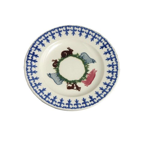 Brixton Pottery Farm Animals Dessert Plate