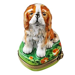 Limoges Limoges Cavalier King Charles Box