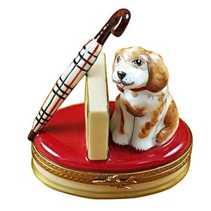 limoges Limoges Spaniel With Umbrella Box