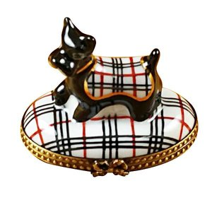 Limoges Scottish Terrier Box