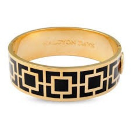 Halcyon Days Halcyon Days Maya Bangle - Black and Gold