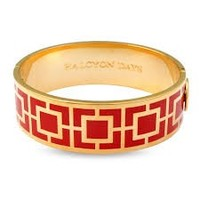 Halcyon Days 19 mm Maya Bangle - Red and Gold