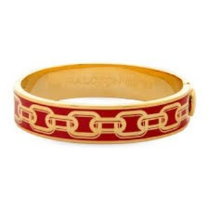 Halcyon Days Halcyon Days Chain Bangle - Red and Gold