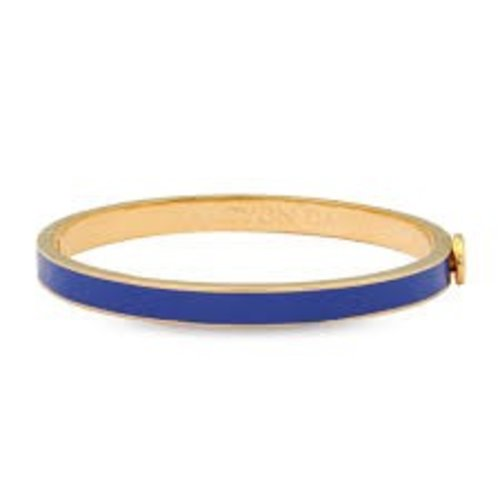 Halcyon Days Halcyon Days Plain Bangle - Cobalt and Gold