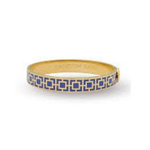 Halcyon Days Halcyon Days Mosaic Bangle - Cobalt and Gold