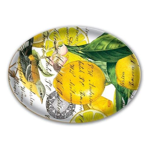 Michel Design Works Lemon Basil Glass Soap Dish