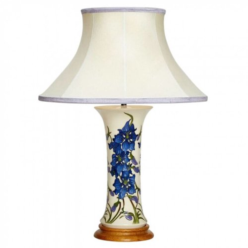 Moorcroft Pottery Delphinium Lamp With Shade