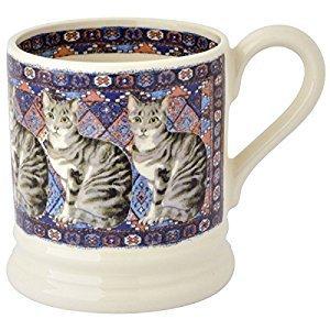 Emma Bridgewater Bridgewater 1/2 Pint Mug - Grey Tabby
