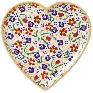 Nicholas Mosse Nicholas Mosse Wild Flower Heart Plate Medium