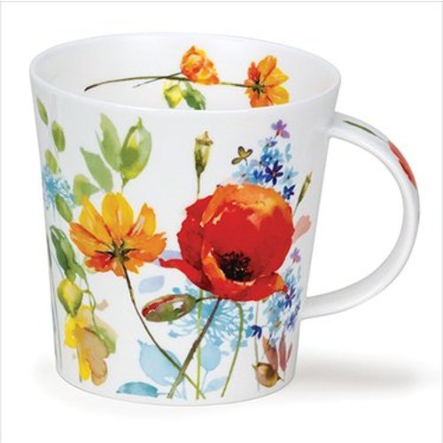 Dunoon Dunoon Cairngorm Country Garden Mug - Red Poppy