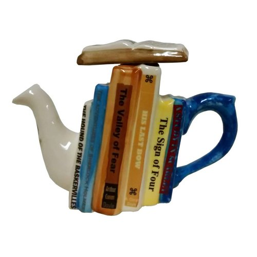 Carters of Suffolk Tony Carter 1 Cup Books Teapot - Sherlock Holmes