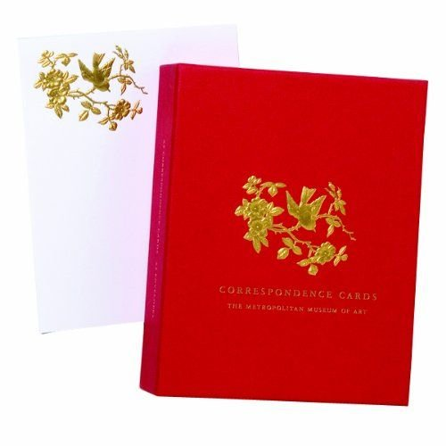 Wild Rose and Songbird Gold Embossed Correspondence Cards
