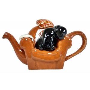 Carters of Suffolk Tony Carter Dog on Armchair Teapot