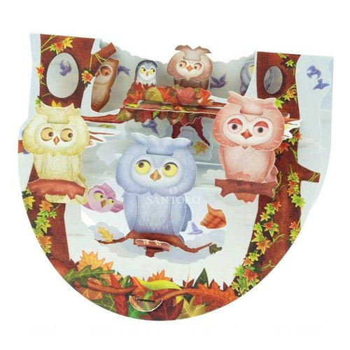 Santoro London Santoro Pop-up Card - Owls