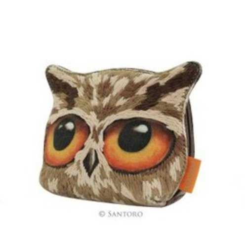 Santoro London Santoro London Book Owls Canvas and Wool Owl Purse