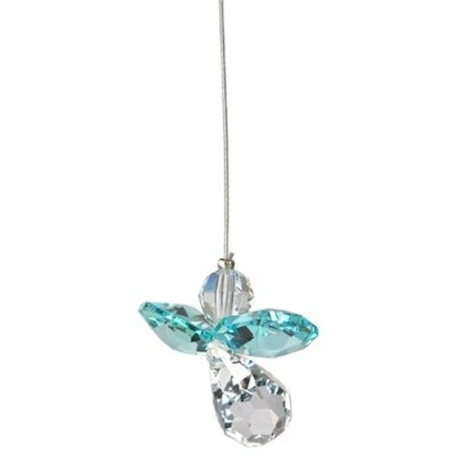 Crystal Guardian Angel - Blue Zircon