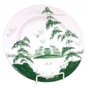 Isis Ceramics Isis Green English Garden - The Temple - Dinner Plate