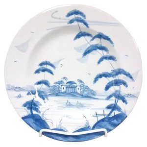Isis Ceramics Isis Blue English Garden - The Temple - Dinner Plate