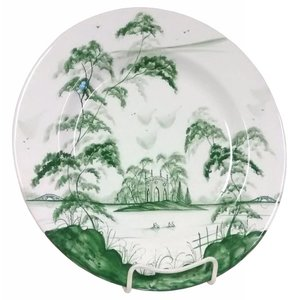 Isis Ceramics Isis Green English Garden - Gothic Pavilion - Dinner Plate