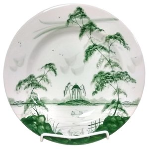 Isis Ceramics Isis Green English Garden - Observatory - Dinner Plate