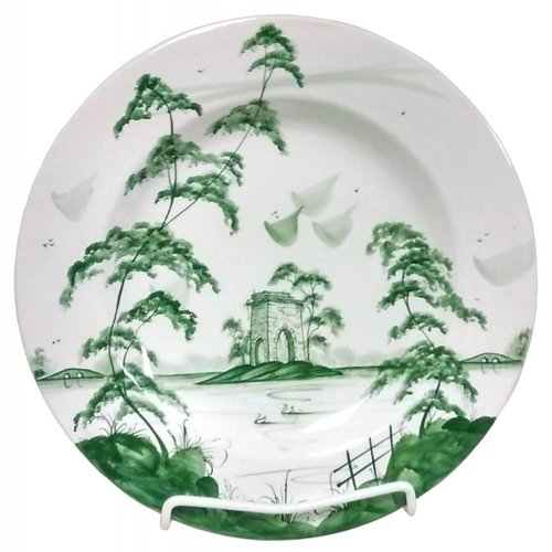 Isis Ceramics Isis Green English Garden - The Ruin - Dinner Plate
