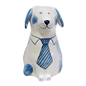 Rye Pottery Rye Dog - Blue With Tie