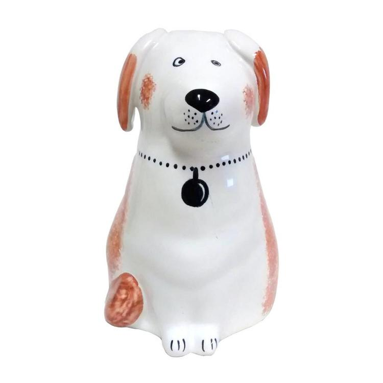 Rye Pottery Rye Dog - Coral With Necklace