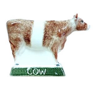 Rye Pottery Rye Cow - Red With White Stripe