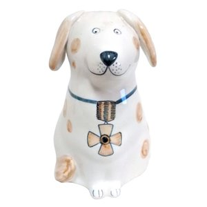 Rye Pottery Rye Dog - Tan With Flower