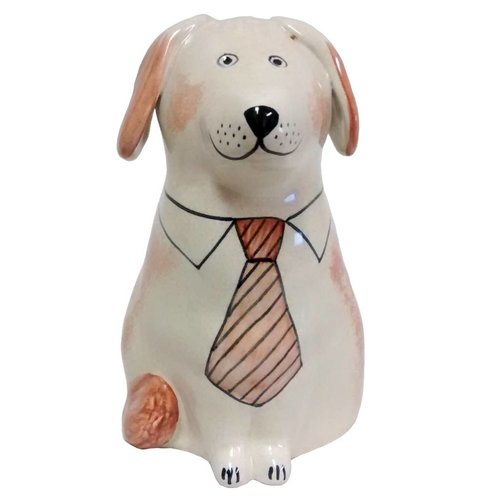 Rye Pottery Rye Dog - Coral With Tie